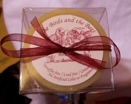 The Birds and the Bees candle