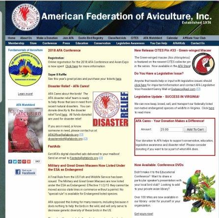 Screenshot of public website