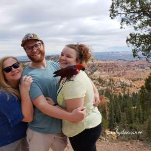 Ruby and family at Bryce Canyon National Park (Courtesy of @Rubydoovance (IG))