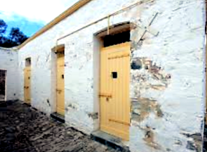 Adobe over masonry for the less prominent parts of the Stables and Lock-up (Daytrippa.com.au)