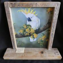 Owen Pointon paintings (here, White Cockatoo) as free standing pieces, from Facebook's Memories n More.