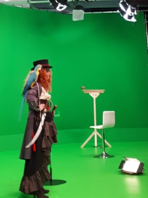Goldie on set (Courtesy of Joan Rakrhra)